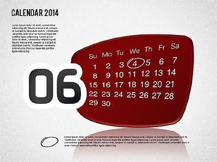 Calendar 2014, Slide 7, 01492, Timelines & Calendars — PoweredTemplate.com