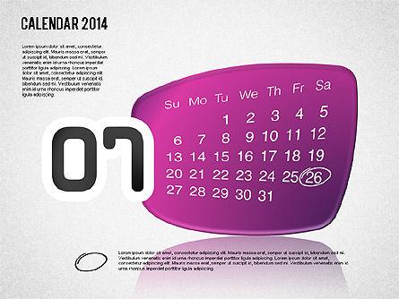 Calendar 2014, Slide 8, 01492, Timelines & Calendars — PoweredTemplate.com