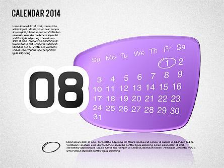 Calendar 2014, Slide 9, 01492, Timelines & Calendars — PoweredTemplate.com
