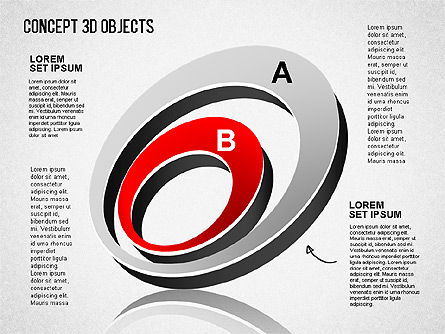 Concept 3D Objects, Slide 10, 01493, Shapes — PoweredTemplate.com
