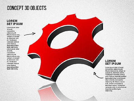 Concept 3D Objects, Slide 11, 01493, Shapes — PoweredTemplate.com