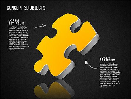 Concept 3D Objects, Slide 13, 01493, Shapes — PoweredTemplate.com