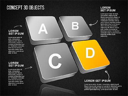 Concept 3D Objects, Slide 14, 01493, Shapes — PoweredTemplate.com