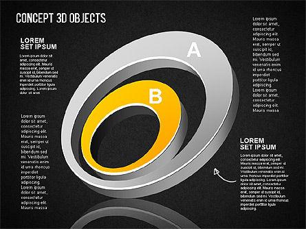 Concept 3D Objects, Slide 15, 01493, Shapes — PoweredTemplate.com