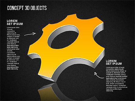 Concept 3D Objects, Slide 16, 01493, Shapes — PoweredTemplate.com