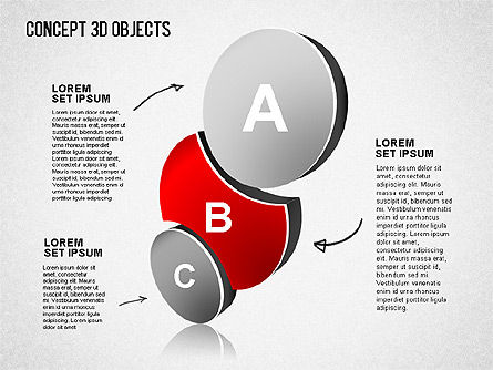 Concept 3D Objects, Slide 2, 01493, Shapes — PoweredTemplate.com