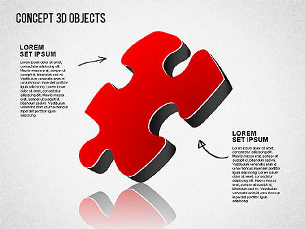 Concept 3D Objects, Slide 4, 01493, Shapes — PoweredTemplate.com