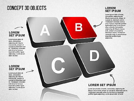 Concept 3D Objects, Slide 6, 01493, Shapes — PoweredTemplate.com