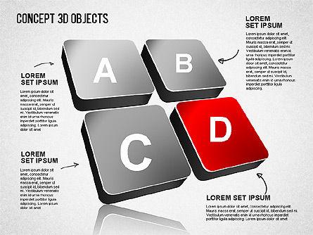 Concept 3D Objects, Slide 8, 01493, Shapes — PoweredTemplate.com