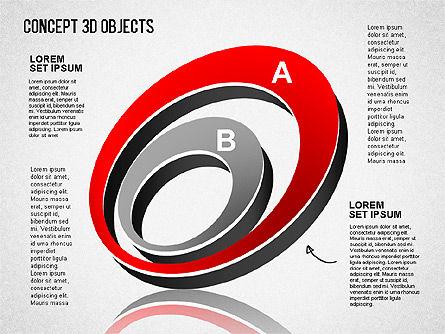 Concept 3D Objects, Slide 9, 01493, Shapes — PoweredTemplate.com