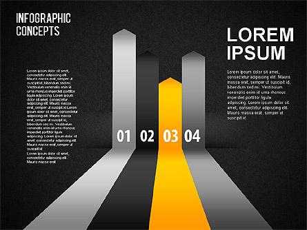 Reflected Lines, Slide 11, 01495, Shapes — PoweredTemplate.com