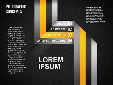Reflected Lines, Slide 12, 01495, Shapes — PoweredTemplate.com