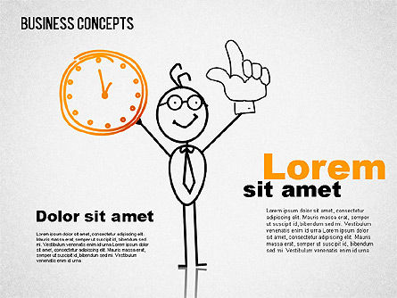 Business Illustrations with Characters, Slide 2, 01496, Shapes — PoweredTemplate.com