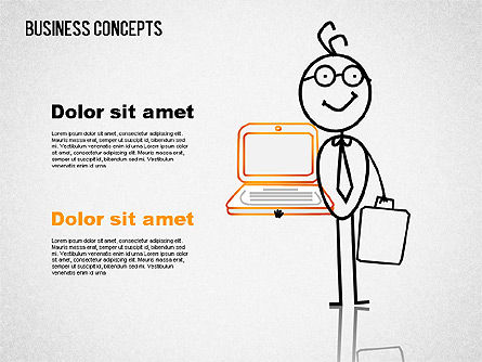 Business Illustrations with Characters, Slide 4, 01496, Shapes — PoweredTemplate.com