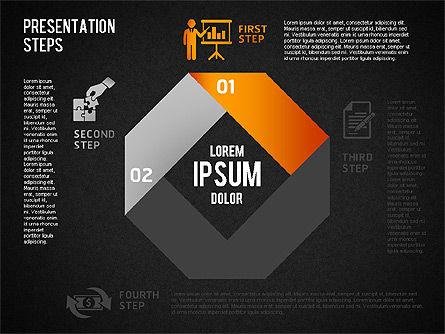 Presentation Steps Diagram, Slide 10, 01497, Stage Diagrams — PoweredTemplate.com