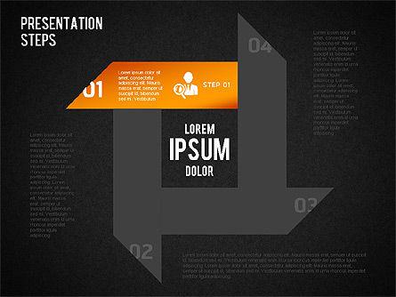 Presentation Steps Diagram, Slide 13, 01497, Stage Diagrams — PoweredTemplate.com