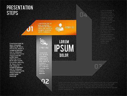 Presentation Steps Diagram, Slide 14, 01497, Stage Diagrams — PoweredTemplate.com