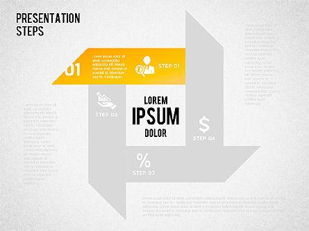 Presentation Steps Diagram, Slide 5, 01497, Stage Diagrams — PoweredTemplate.com