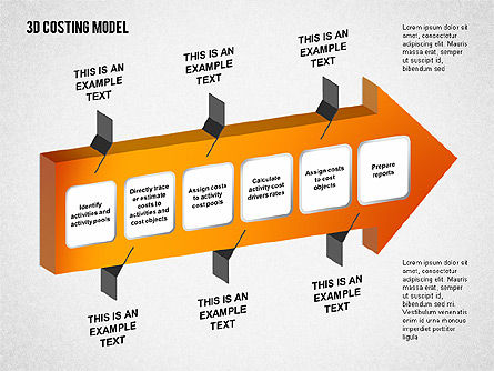 3D Costing Model, Slide 2, 01498, Process Diagrams — PoweredTemplate.com