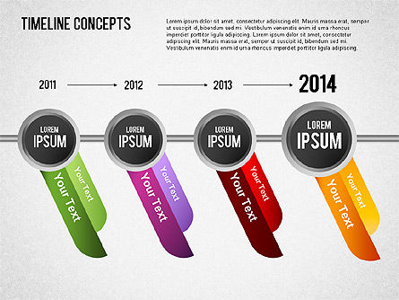 Timeline Concepts, 01500, Timelines & Calendars — PoweredTemplate.com