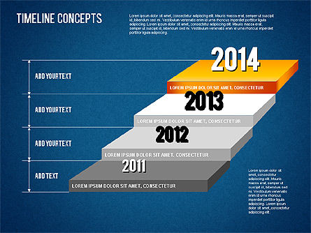 Timeline Concepts, Slide 10, 01500, Timelines & Calendars — PoweredTemplate.com
