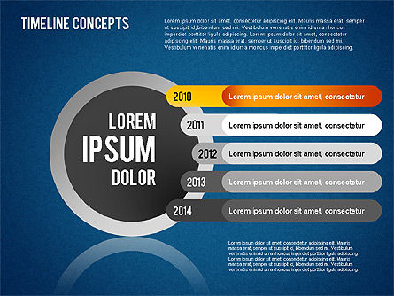 Timeline Concepts, Slide 11, 01500, Timelines & Calendars — PoweredTemplate.com