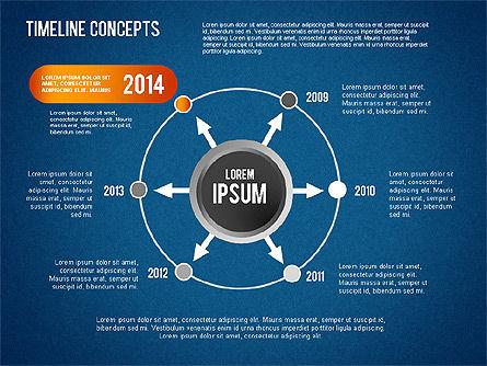 Timeline Concepts, Slide 12, 01500, Timelines & Calendars — PoweredTemplate.com