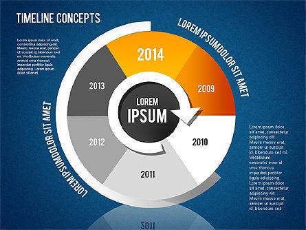 Timeline Concepts, Slide 14, 01500, Timelines & Calendars — PoweredTemplate.com