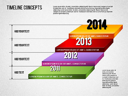 Timeline Concepts, Slide 2, 01500, Timelines & Calendars — PoweredTemplate.com