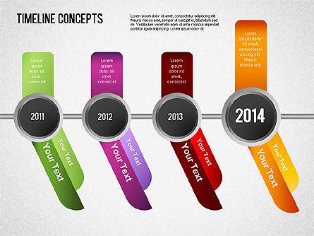 Timeline Concepts, Slide 5, 01500, Timelines & Calendars — PoweredTemplate.com
