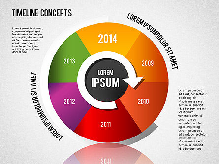 Timeline Concepts, Slide 6, 01500, Timelines & Calendars — PoweredTemplate.com