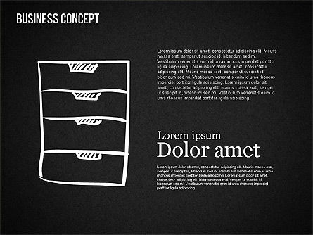 Business Shapes on Chalkboard, Slide 11, 01501, Shapes — PoweredTemplate.com