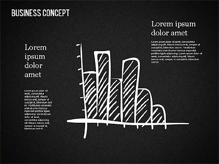 Business Shapes on Chalkboard, Slide 13, 01501, Shapes — PoweredTemplate.com