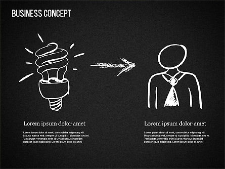 Business Shapes on Chalkboard, Slide 15, 01501, Shapes — PoweredTemplate.com