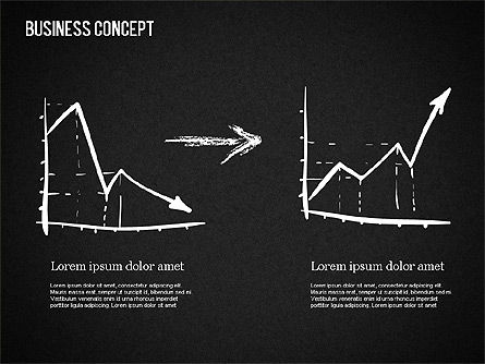 Business Shapes on Chalkboard, Slide 2, 01501, Shapes — PoweredTemplate.com