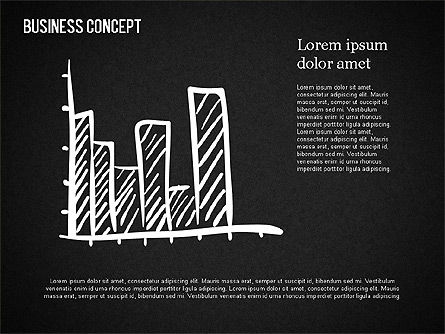 Business Shapes on Chalkboard, Slide 9, 01501, Shapes — PoweredTemplate.com