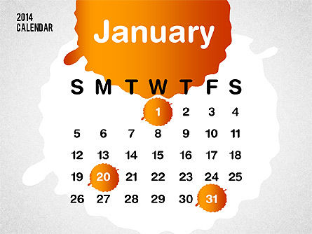 PowerPoint Calendar 2014 Slide 3