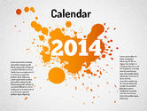Timelines & Calendars: Calendrier Powerpoint 2014 #01507