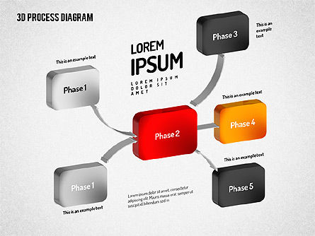 3D Flow Chart, Slide 10, 01511, Process Diagrams — PoweredTemplate.com