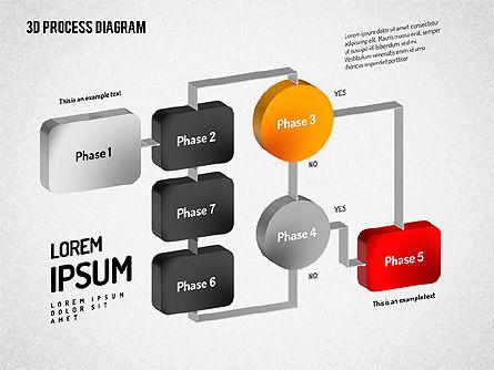 3D Flow Chart, Slide 11, 01511, Process Diagrams — PoweredTemplate.com