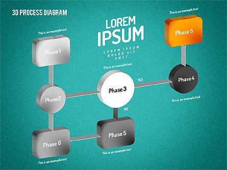 3D Flow Chart, Slide 12, 01511, Process Diagrams — PoweredTemplate.com