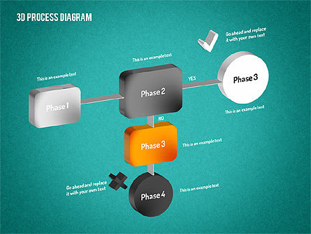 3D Flow Chart, Slide 13, 01511, Process Diagrams — PoweredTemplate.com