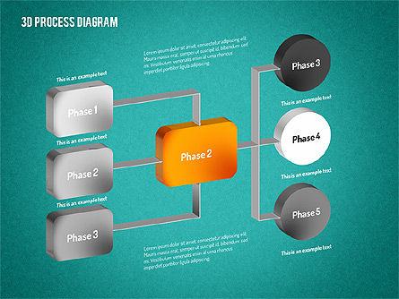 3D Flow Chart, Slide 14, 01511, Process Diagrams — PoweredTemplate.com