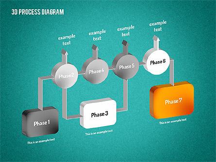 3D Flow Chart, Slide 15, 01511, Process Diagrams — PoweredTemplate.com