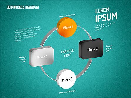 3D Flow Chart, Slide 16, 01511, Process Diagrams — PoweredTemplate.com