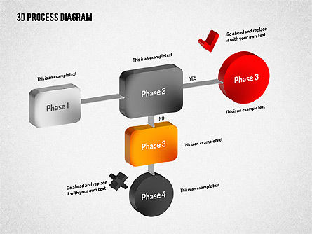3D Flow Chart, Slide 2, 01511, Process Diagrams — PoweredTemplate.com