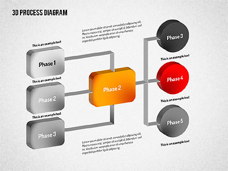 3D Flow Chart, Slide 3, 01511, Process Diagrams — PoweredTemplate.com