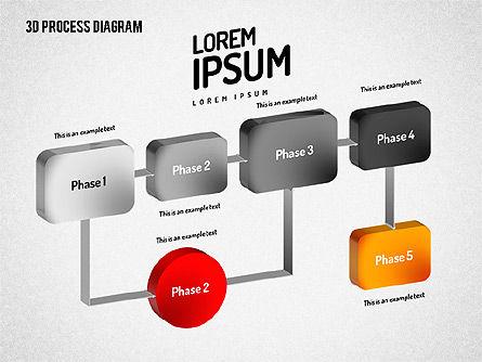 3D Flow Chart, Slide 5, 01511, Process Diagrams — PoweredTemplate.com