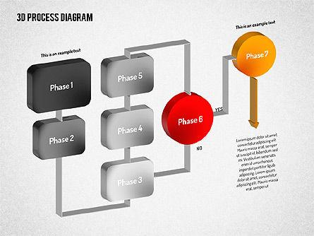 3D Flow Chart, Slide 6, 01511, Process Diagrams — PoweredTemplate.com