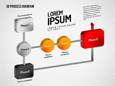 3D Flow Chart, Slide 7, 01511, Process Diagrams — PoweredTemplate.com